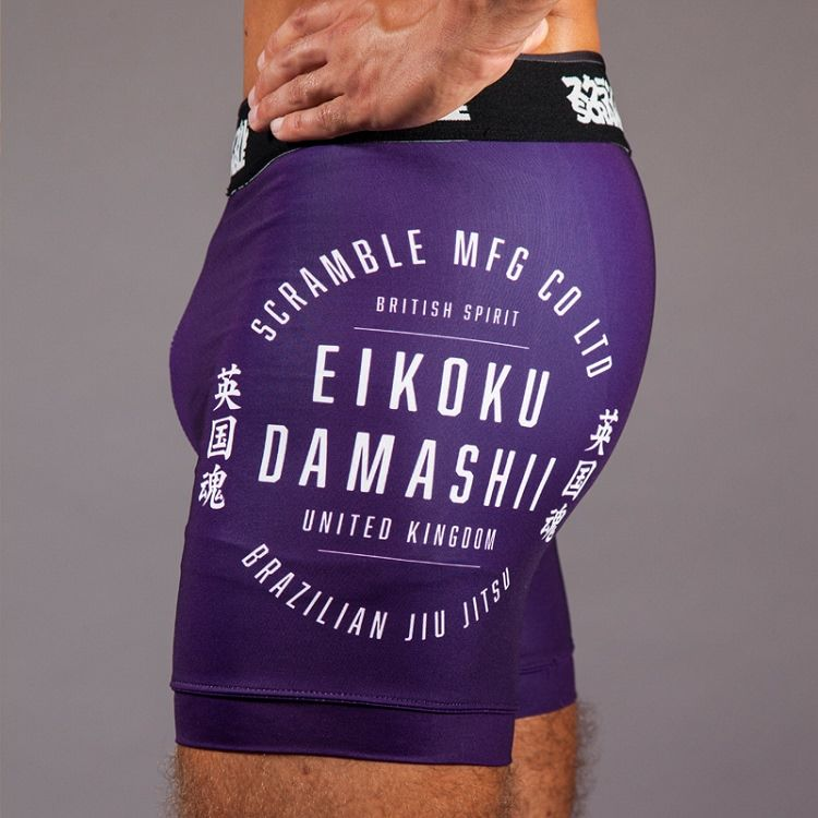 "Scramble 'Real"" Vale Tudo Shorts - Purple"