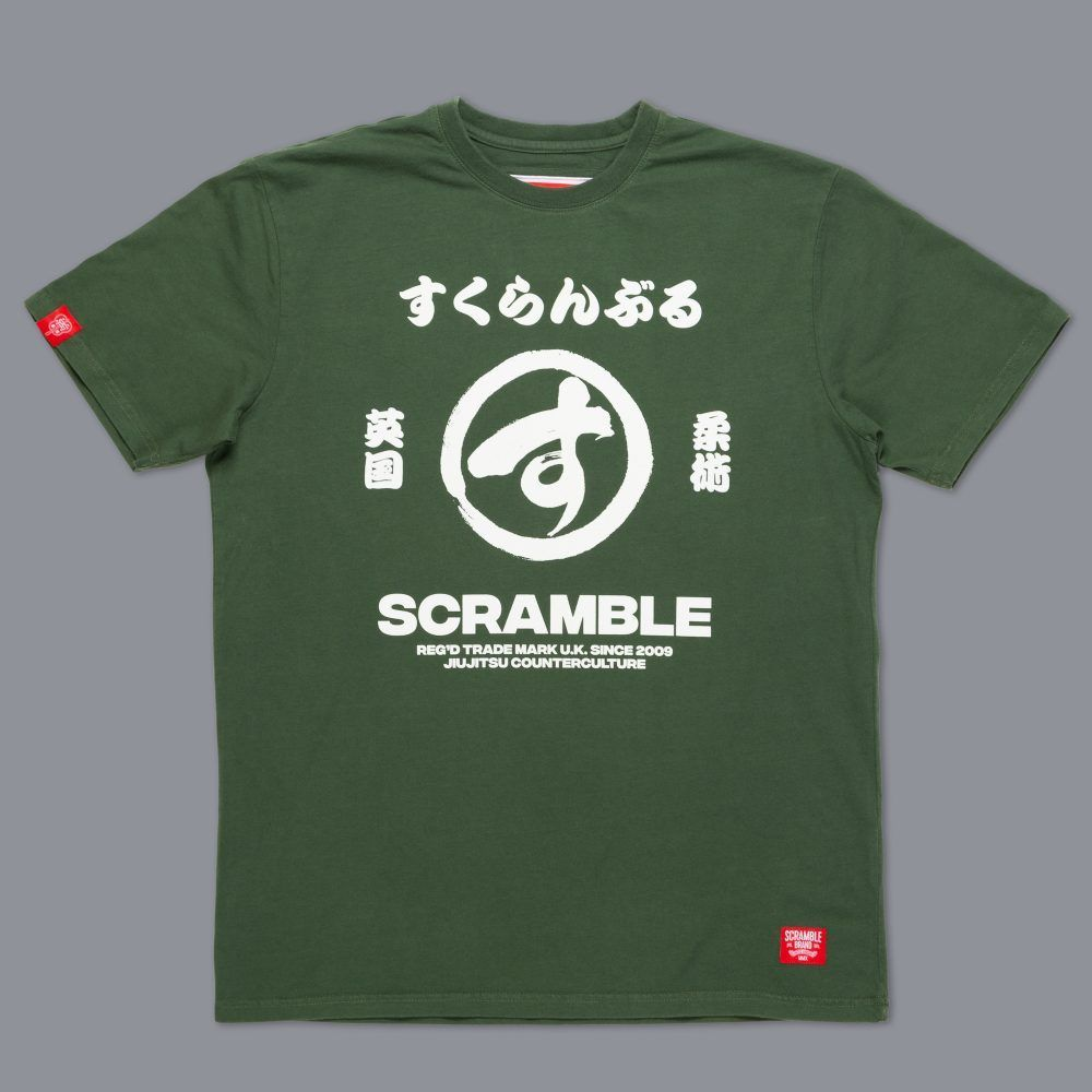 Scramble Big Brush T-Shirt - Green