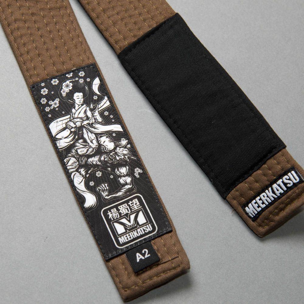 Meerkatsu Heavenly Obi, Brazilian Jiu-Jitsu Belt - Brown