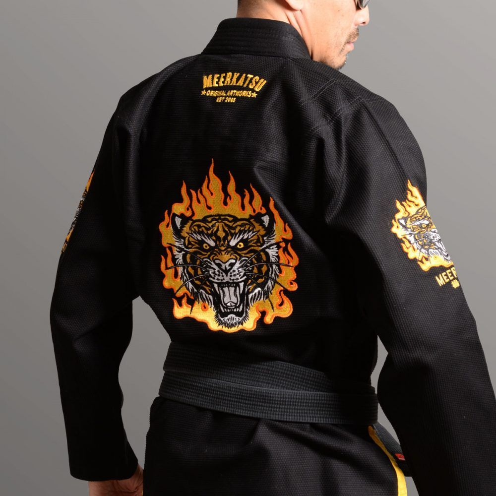 Meerkatsu Fire Tiger BJJ Gi - Black