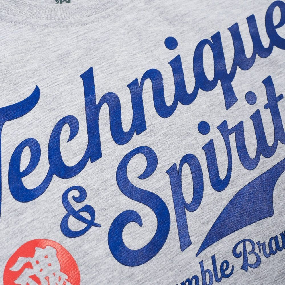 Scramble Technique and Spirit Long Sleeve Tee - Grey