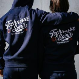 Scramble Technique and Spirit Pullover Hoodie - Navy