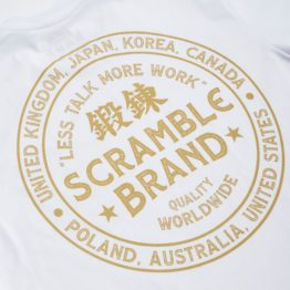 Scramble More Work Tee - White
