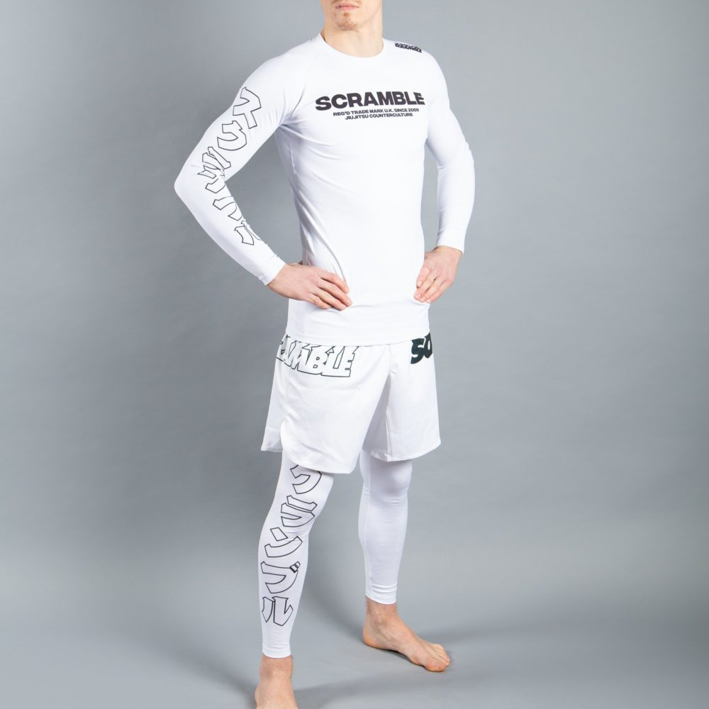 Scramble BASE Rashguard - White