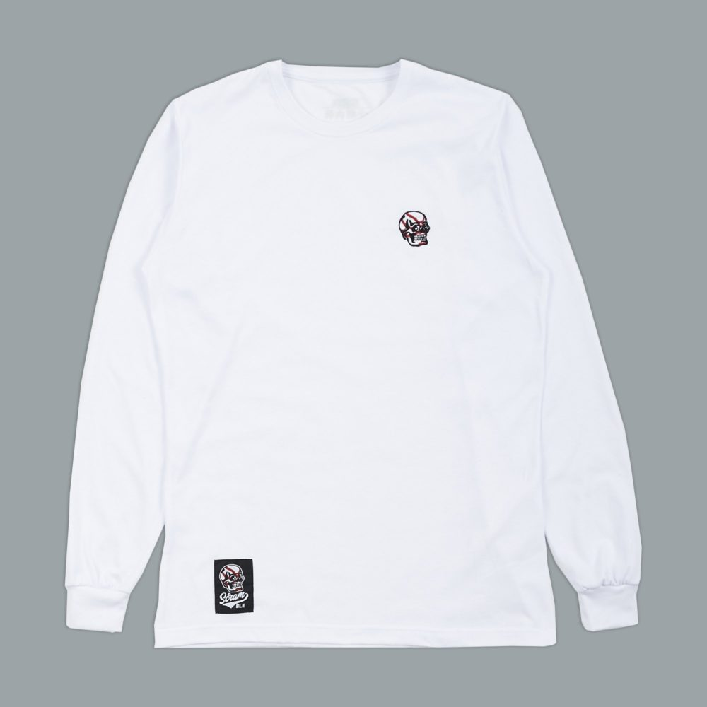 Scramble Skabuki Long Sleeved Tee - White