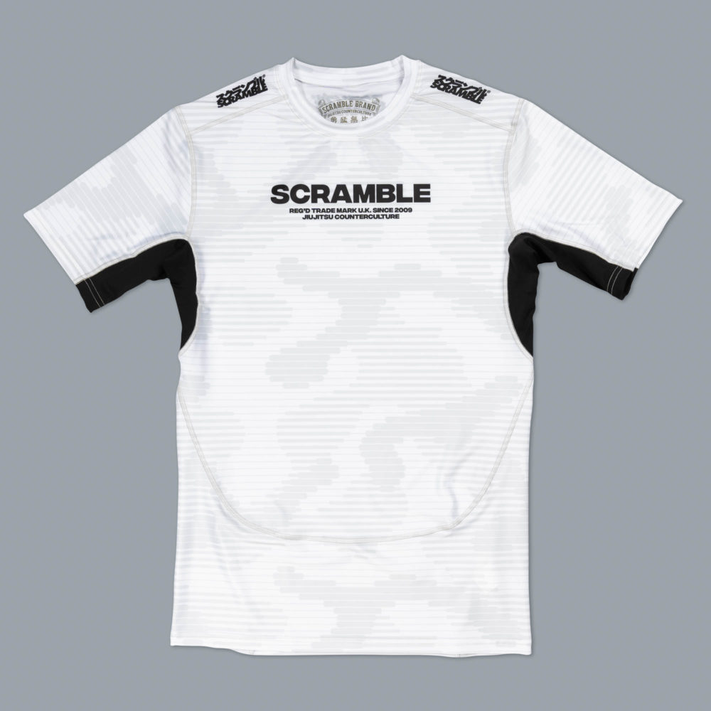 Scramble Tactic Rashguard - White